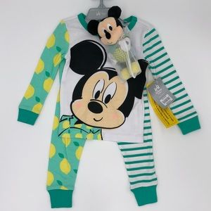 NEW with tags Disney Store PJ Set & Plush Rattle